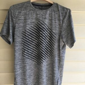 Asics Mens SD Graphic SS Top Carbon Heather Small